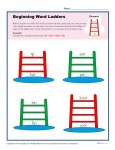 Beginning Word Ladder Printable Worksheet