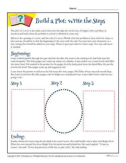 Building a Plot Worksheet - Write the Steps