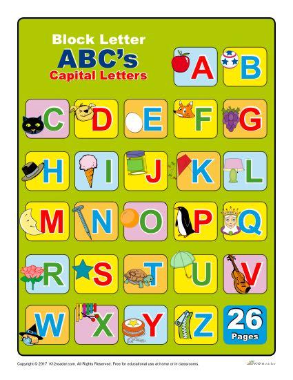 Capital Block Letters Chart
