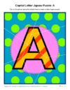 Capital Letter Jigsaw Puzzle: A