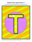 Preschool Alphabet Activity - Printable Capital Letter T Jigsaw Puzzle