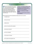 Capital Letters in Titles - Worksheet Practice Activity