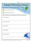 Kindergarten Capitalization Worksheet - First Letter of a Sentence