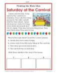 What is the main idea of a story? Saturday at the Carnival!