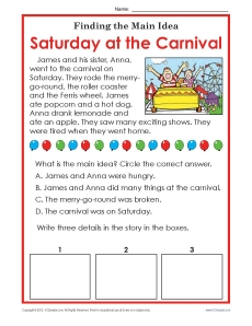 What Is The Main Idea Carnival