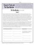 Free, Printable Character Traits Worksheet - The Time Machine