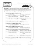 Choose the Homograph - Free, Printable Worksheet Activity