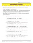 Pronoun Agreement Worksheet Activity - Choose the Pronoun