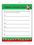 Printable Christmas Worksheet - Write an Acrostic Poem!