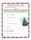 Christmas Eve Secret Code Worksheet