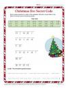 Christmas Eve Secret Code Worksheet