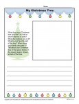 Christmas Tree Writing Prompt for Kindergarten - 2nd Grade