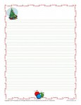 Christmas Lined Writing Paper for Kids