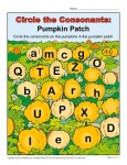 Circle the Consonants - Printable Halloween Activity for Students