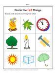 Preschool Worksheet Activity - Circle the Hot Things!