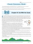 Printable Classic Literature Worksheet - Heidi