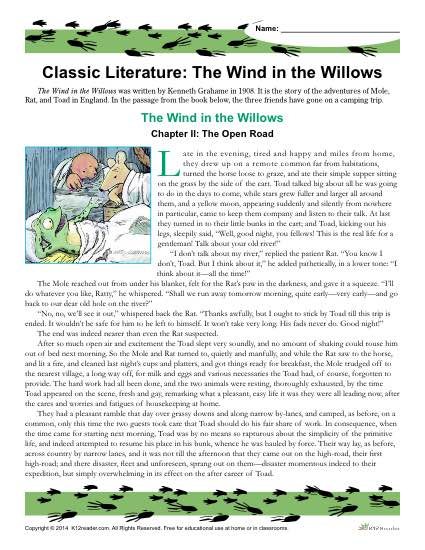 the wind in the willows theme