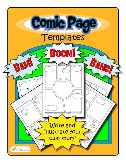 It is a picture of Comic Strip Template Printable with regard to comic book