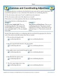 Commas and Coordinating Adjectives - Free, Printable Worksheet Activities