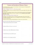 Commas and Introductory Elements - Clauses Worksheet Practice Activity