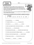 Common Prepositions Worksheet Practice Activity