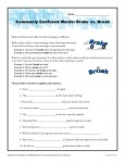 Brake vs Break - Commonly Confused Words Practice Worksheet