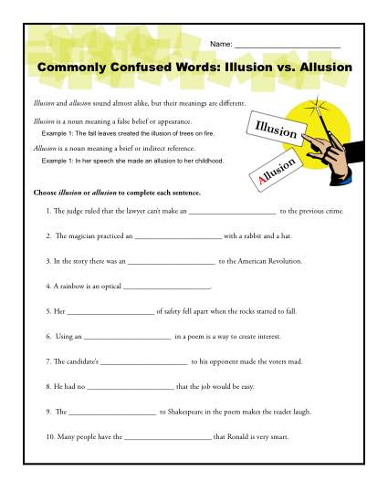 Commonly Confused Words - Allusion vs Illusion