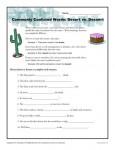 Desert vs. Dessert - Commonly Confused Words Worksheet Activity