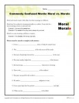 Commonly Confused Words - Moral vs Morale