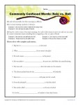 Roll vs Role - Commonly Confused Words Practice Worksheet