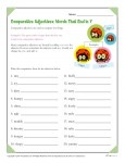 Spelling Rules Worksheet for Comparative Adjectives that End in Y