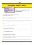 Compound Indirect Object Worksheet