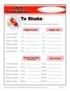 Verb Conjugation: To Shake
