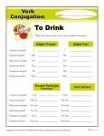 Printable Verb Conjugation Worksheet - To Drink