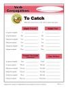 Verb Conjugation: To Catch
