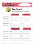 Free, Printable Verb Conjugation Worksheet - to Catch