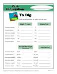 Free, Printable Verb Conjugation Activity - To Dig