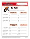 Free, printable Verb Conjugation Worksheet - To Fall