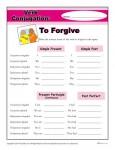 Free, printable Verb Conjugation Worksheet - To Forgive