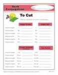 Printable Verb Conjugation Worksheet - To Cut