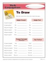 Printable Verb Conjugation Worksheet - To Draw