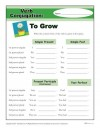 Verb Conjugation: To Grow