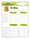 Printable Verb Conjugation Worksheet - To Miss