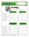 Verb Conjugation: To Play