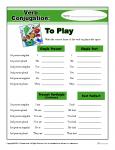 Printable Verb Conjugation Worksheet - To Play