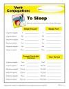 Verb Conjugation: To Sleep