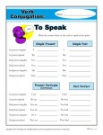 Printable Verb Conjugation Worksheet - To Speak