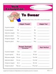Printable Verb Conjugation Worksheet - To Swear