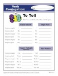 Printable Verb Conjugation Worksheet - To Tell