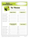 Printable Verb Conjugation Worksheet - To Throw